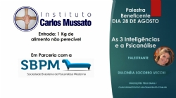 "Aconteceu no Instituto Carlos Mussato a palestra ""As 3 inteligências e a Psicanálise"""